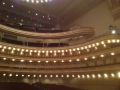 Carnegie Hall, from the stage