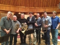 Artist James Taylor, arranger Rob Mounsey, and the brass section