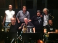 With Tom Malone, Lew Soloff, Joe Borges, Mike Merola, Lou Marini, and Andy Snitzer